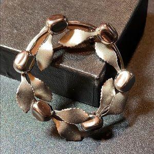 Vintage Silver Wreath Brooch Pin